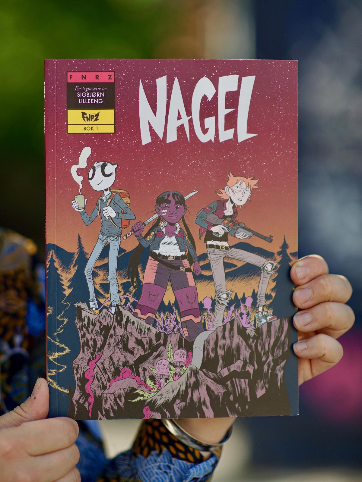 Omslaget til tegneserien Nagel av Sigbjørn Lilleeng